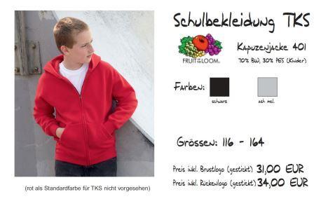 Schulkollektion FOL Ki-Kapuzenjacke
