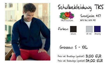 Schulkollektion HAKRO Sweatjacke 457