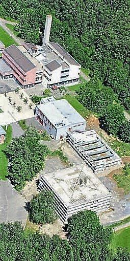 Aktuell teuerste Maßnahme im Landkreis- Schulbau: neuer Klassentrakt und eine Aula für die Theo-Koch-Schule in Grünberg.